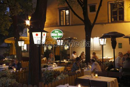 austria vienna salzkammergut people in restaurant