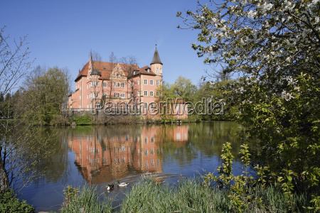 germany upper bavaria moated castle in