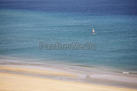 spanien kanarische inseln fuerteventura jandia windsurfer