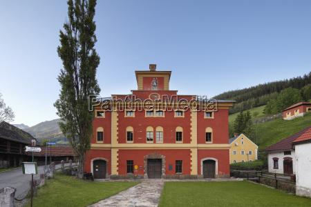austria styria eisenerz view of furnace
