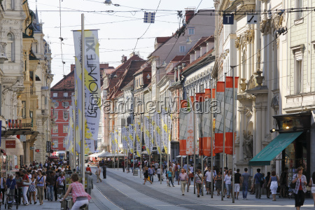 austria styria graz people at herrengasse