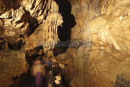 austria styria people at lurgrotte stalactite
