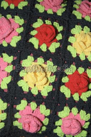 flor planta croche almohada
