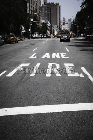 usa new york view of traffic