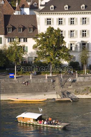 switzerland basel rhine river klingentalfaehre
