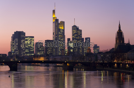 germany frankfurt river main and financial