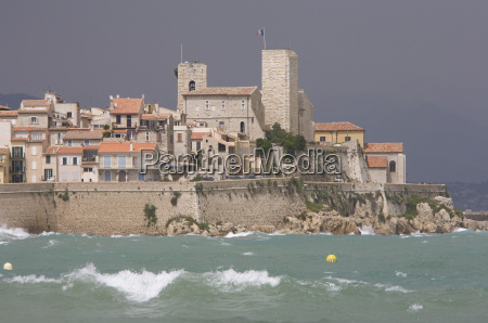 france antibes grimaldi castle on shore