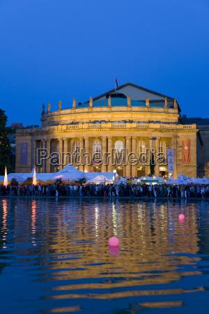 deutschland baden wuerttemberg stuttgart opernhaus