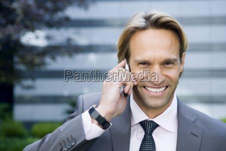germany baden wuerttemberg stuttgart businessman using