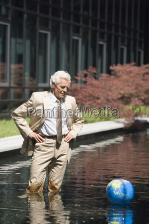 germany baden wuerttemberg stuttgart senior businessman