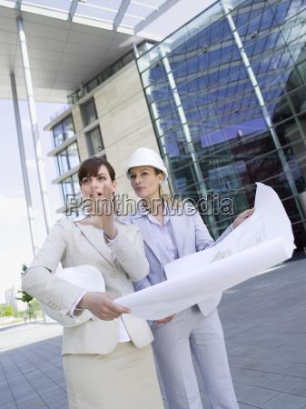 germany baden wuerttemberg stuttgart two businesswomen