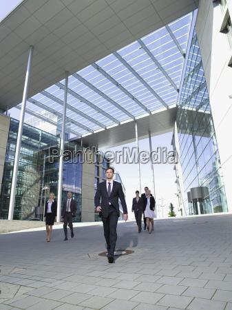 germany baden wuerttemberg stuttgart businesspeople walking