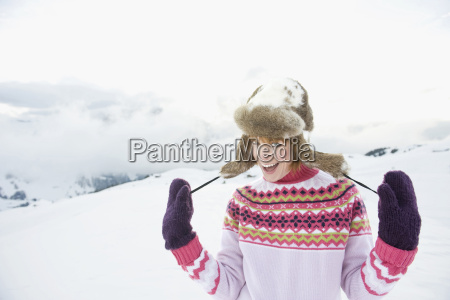 italy south tyrol seiseralm woman standing
