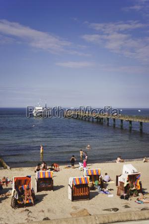 germany mecklenburg vorpommern kuehlungsborn beach and