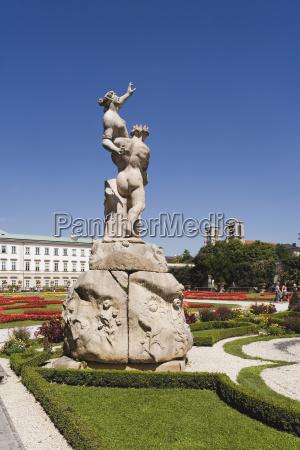 austria salzburg mirabell palace fountain