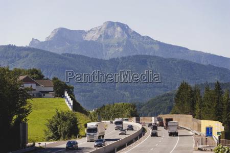 austria salzkammergut oberwang highway