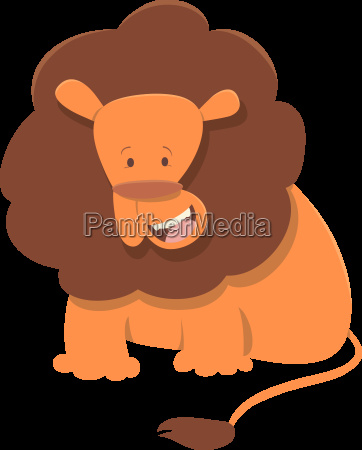 cute lion animal character