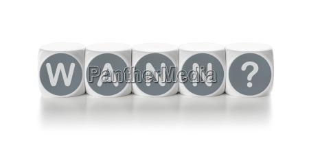 letter cube on white background