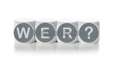 letter cubes on white background