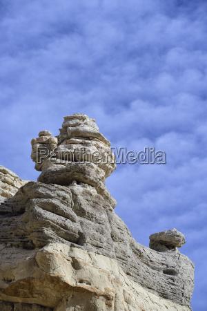 usa new mexico abiquiu limestone rock