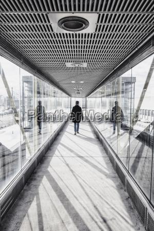 usa massachusetts boston woman walking down