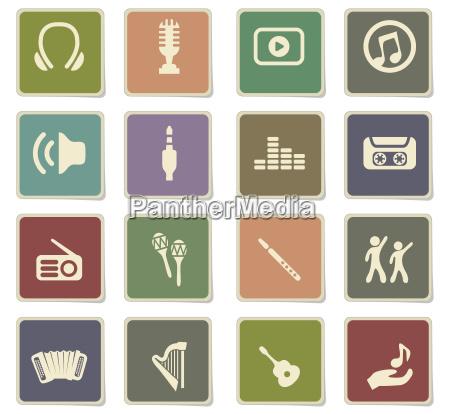 musik icon set