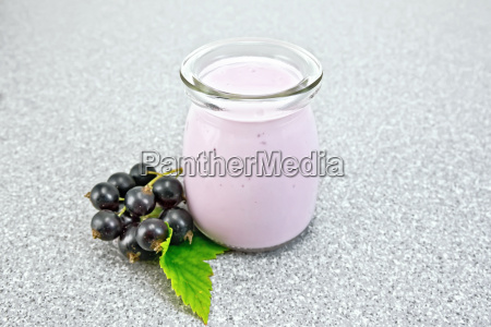 milk cocktail with black currant in