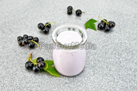 milk cocktail with black currant on