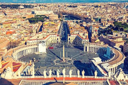 luftaufnahme von rom von der kathedrale