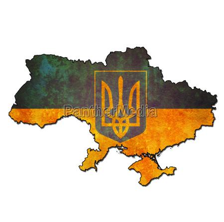 ukraine gebiet mit flagge