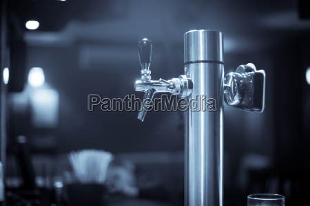 beer tap in a bar or