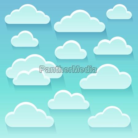stilisierte wolken thema bild 6