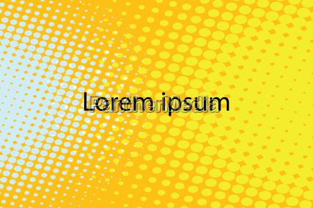 lorem ipsum yellow abstract pop art