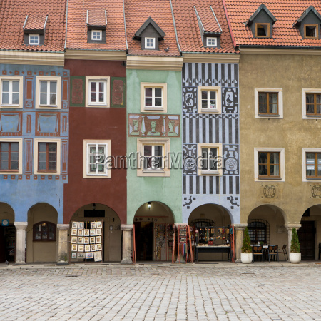 historical facades on the market square