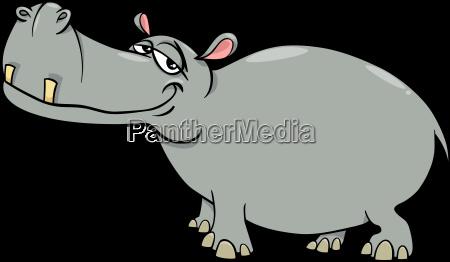 hippopotamus cartoon character