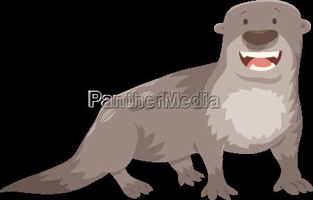 otter cartoon tiercharakter