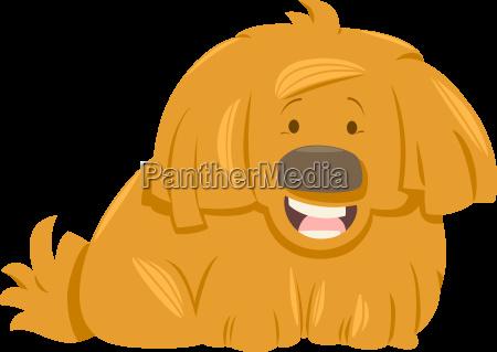 hairy dog animal character