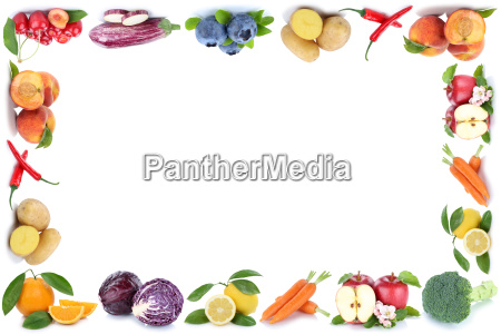 fruits and vegetable fruits frame text