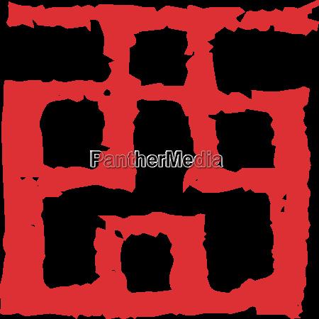 chinese zodiac kanji symbol stamp