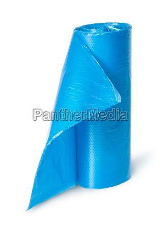 blau freisteller abgeschieden senkrecht abfall plastik