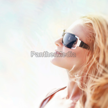 beautiful woman on sunny day