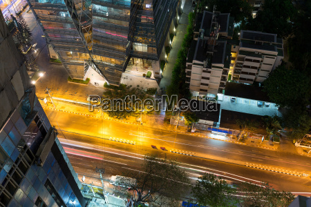 top view of cityscape in bangkok