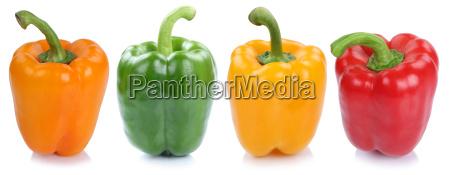 paprika sammlung frisch gemuese seitlich in