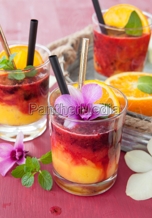 colorful drink with orange