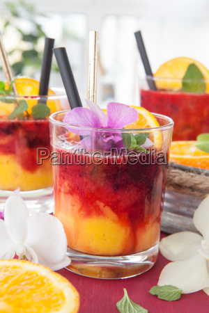 colorfully drink with orange