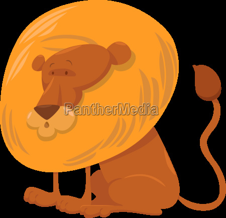 lion cartoon animal character