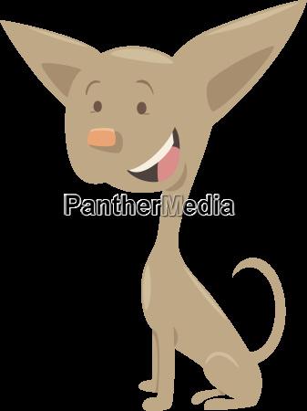 chihuahua dog cartoon character