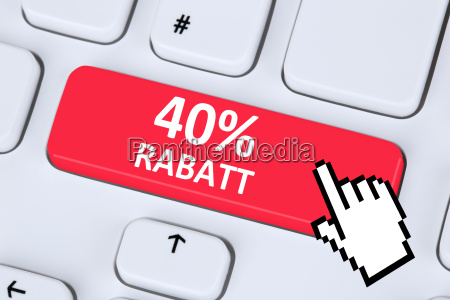40 forty per cent discount button