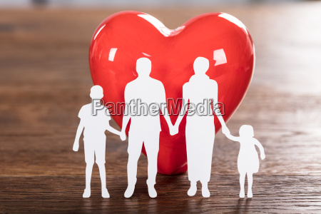 family health concept on wooden desk