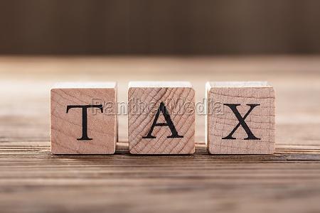 tax wooden blocks